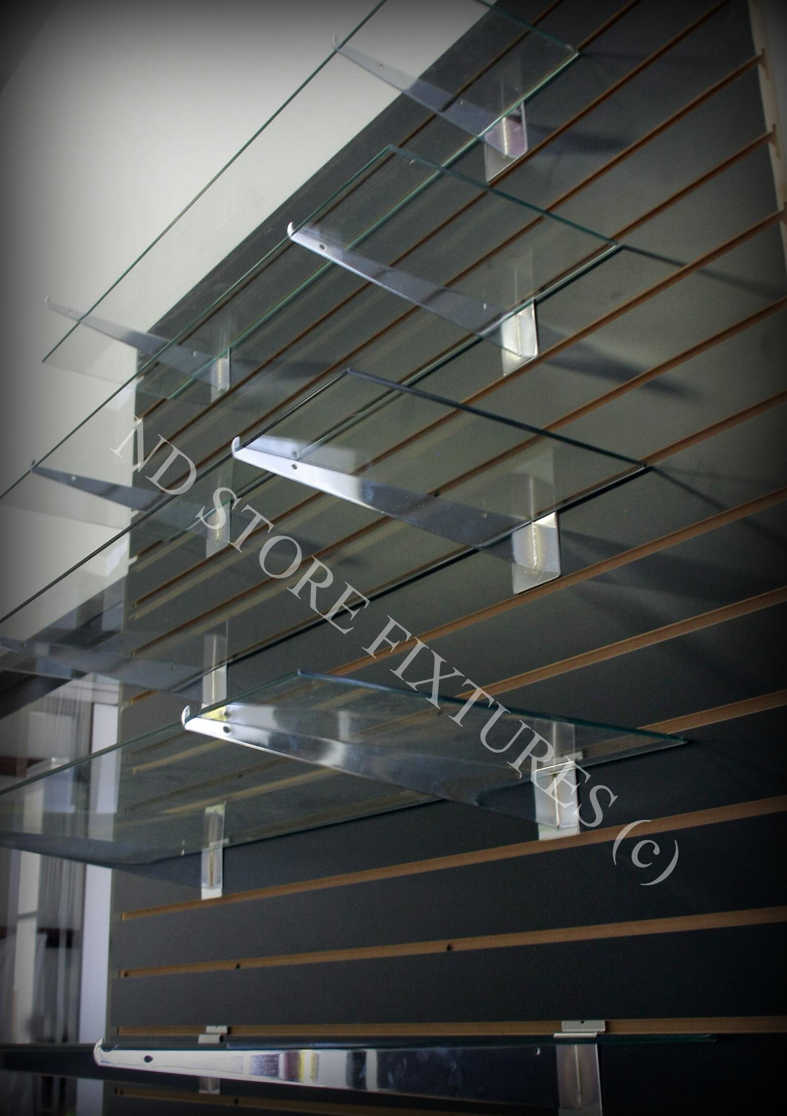 shelf brackets melamine slatwall amipublicfo tempered glass shelves amipublicfo choice image